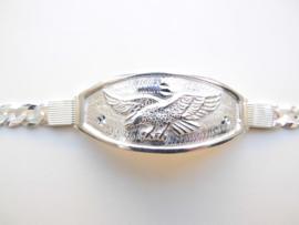 Zilveren adelaar bracelet.