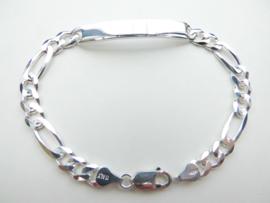 Zilveren figaro plaatband.