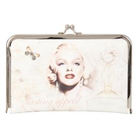 """Luxe PLATTE knip portemonnee """"Marilyn Monroe"""""""