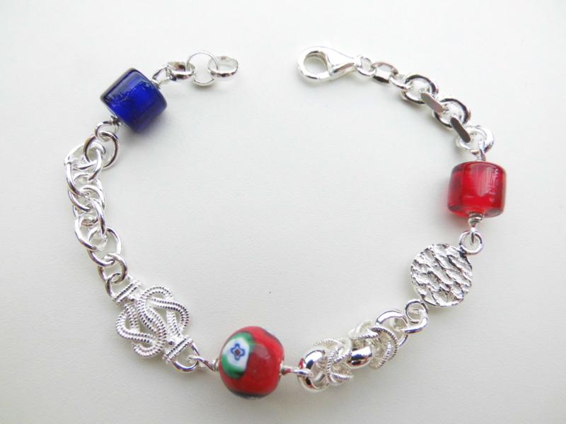 Zilveren allakondre bracelet. (ietsje dikker)