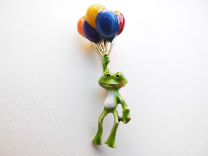 Broche kikker ballonnen.