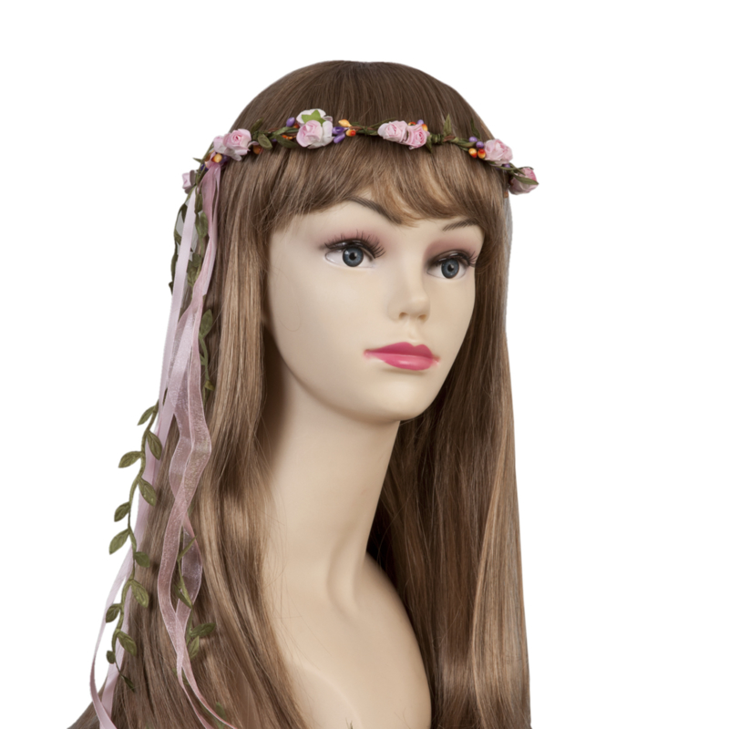Mooie festival haarband roze.