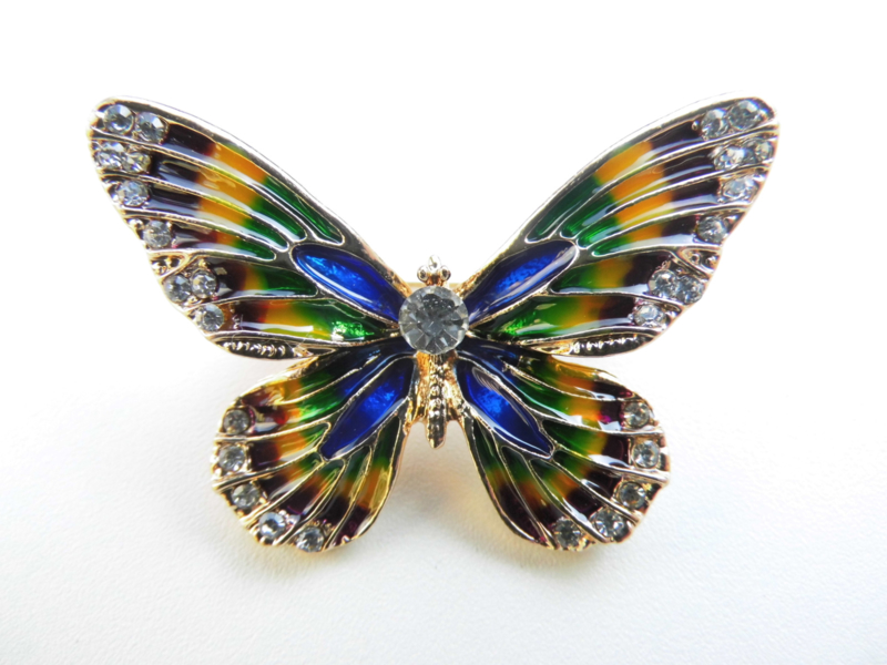 Broche iriserende vlinder