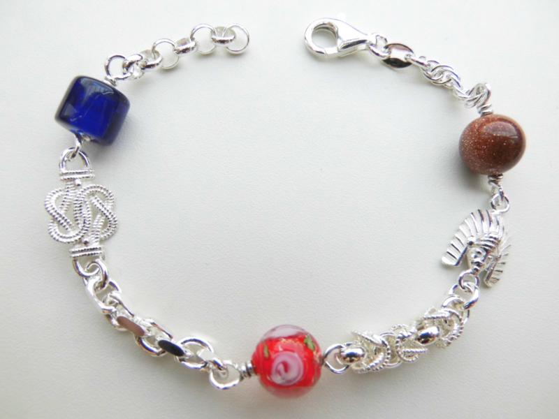 Zilveren allakondre bracelet. (medium size)