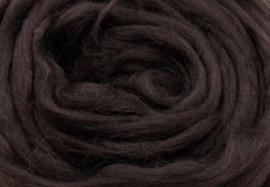 Meter lontwol: donker bruin