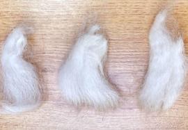 Alpaca lokjes - wit - 10 gram