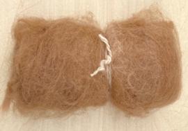 Alpacawol gekaard - zand - 30 gram