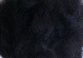 Alpaca lokjes - zwart- 10 gram - grof
