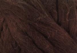 XXL Lontwol / viltwol: Zuid-Amerikaans- zwart/bruin (kl948)