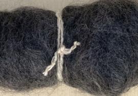Alpacawol gekaard - donker grijs - 30 gram