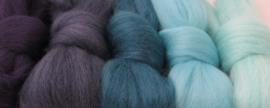 5 tinten blauw (2)  - 5x30cm / 5x1m