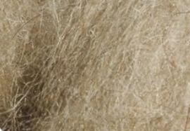 Vlieswol mix karakul merino - lichtbruin (1 kilo)