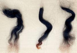 Alpaca lokjes - zwart- 10 gram