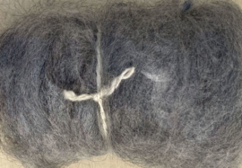 Alpacawol gekaard - licht grijs - 30 gram