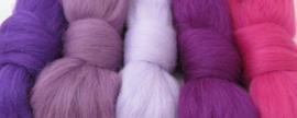5 tinten paars  - 5x30cm / 5x1m