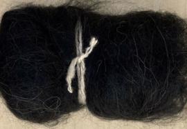 Alpacawol gekaard - zwart - 30 gram