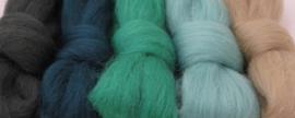 5 tinten groen (2) - 5x30cm / 5x1m