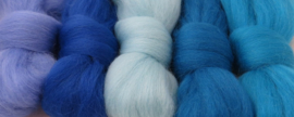 5 tinten blauw (1)  - 5x30cm / 5x1m