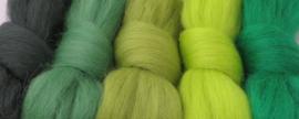 5 tinten groen (1) - 5x30cm / 5x1m