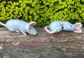 Twee muisjes - materialenpakket bij Hobby Handig augustus 2021