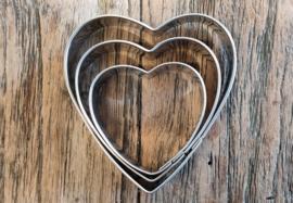 Set van drie hartjes