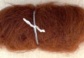 Alpacawol gekaard - kastanje - 30 gram