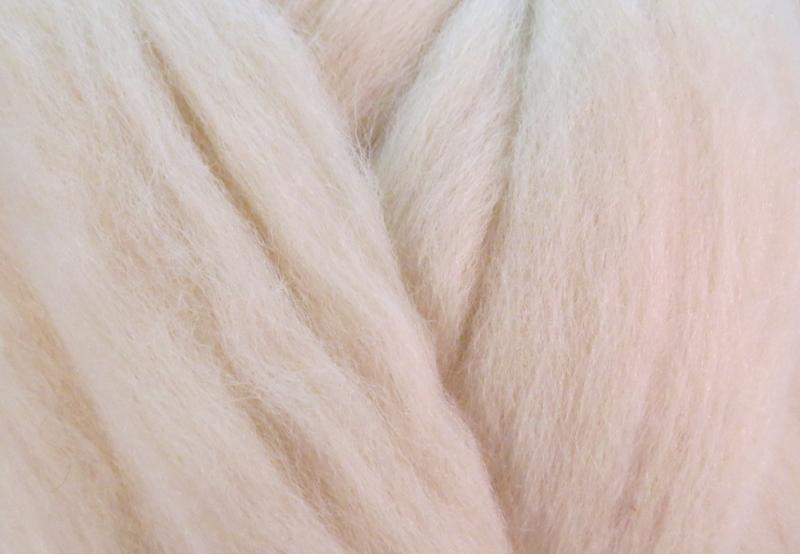 Meter lontwol: Nieuw-Zeelands crème-wit (kl924)