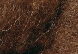 Vlieswol bergschaap - bruin (1 kilo)