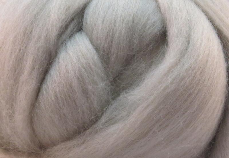 Meter lontwol: grijs/beige (ongeverfd)
