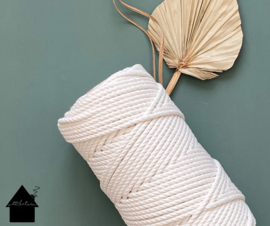 Macrame koord 5mm 100 meter Naturel