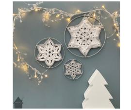 Winterflower Snowflake zilverkleurige ringen (3 stuks)