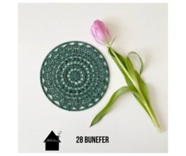 So Natural Mandala set van 3 x 20 cm effen
