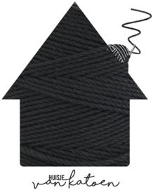 Macramé koord 3 mm 0,5 kilo Zwart