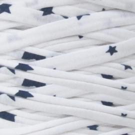 Tshirt garen wit met donkerblauwe sterren