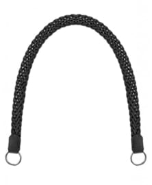 Gevlochten tashengsel zwart 85 cm
