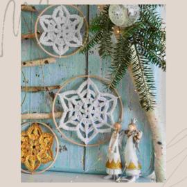 Winter Flower Snowflake goudkleurige ringen (3 stuks)