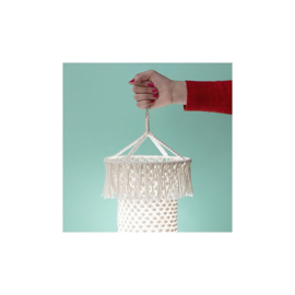 Gratis patroon macramé  lamp Minimop  (Engelstalig)