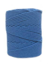Macramé koord 4 mm 1 kilo Blue Velvet