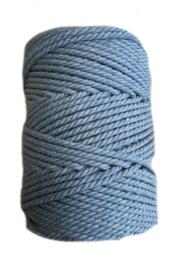 Macramé koord 3mm Jeans ca 50 meter (foto is van 5mm)