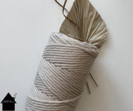 Macrame  koord 3/4 mm 110 mtr  Lino Gerecyclede katoen