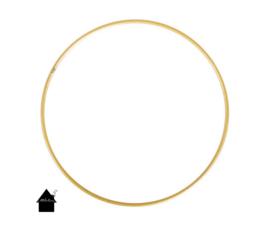 Metalen ring goud gecoat 10 t/m 25 cm