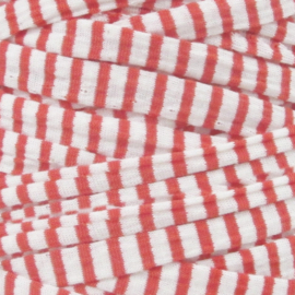 Tshirt garen striped red and white