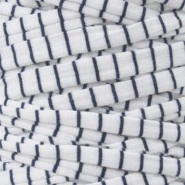 Tshirt garen wit met blauw streepje