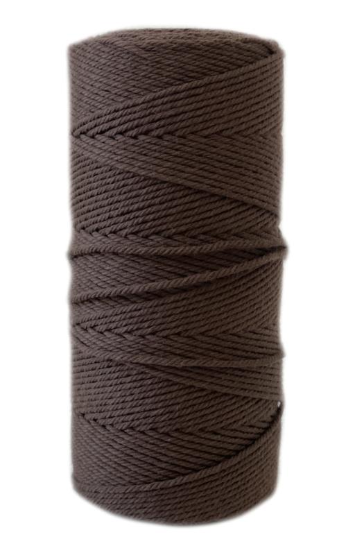 Macrame koord 1 mm bruin ca 110 mtr