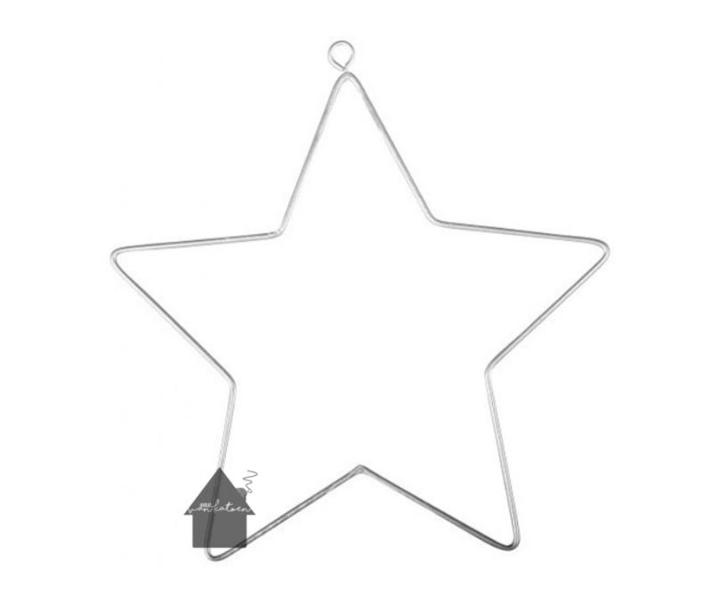 Metalen  ster 11,5 cm