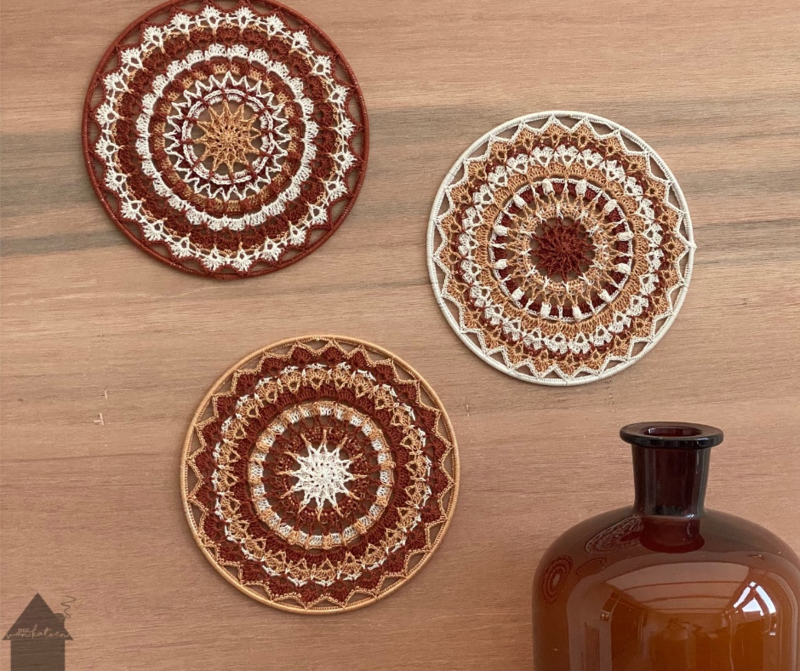So Natural Mandala set van 3 x 20cm in 3 kleuren