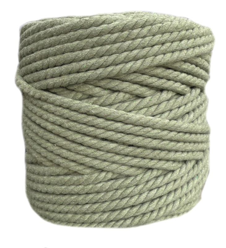 Macramé koord 7mm 100 meter Avocado