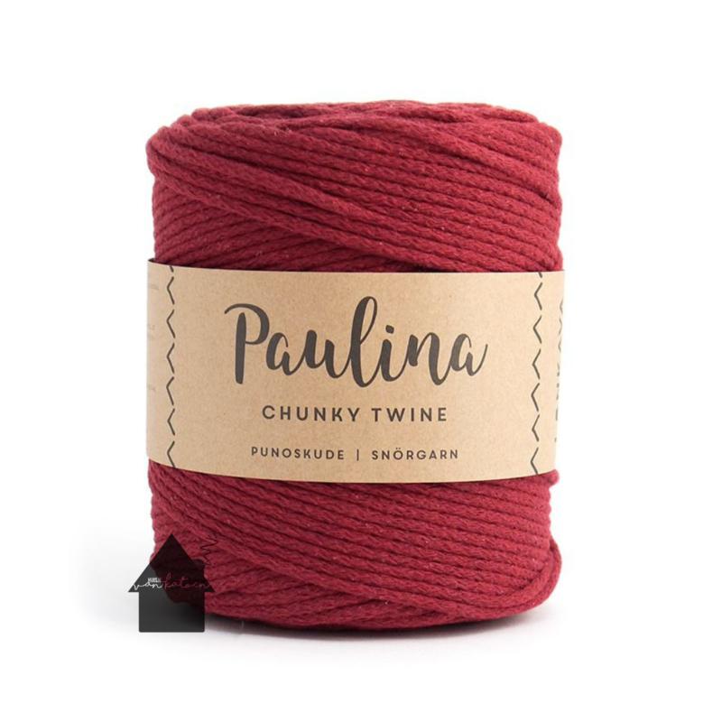 Paulina Chunky Twine Wine Red