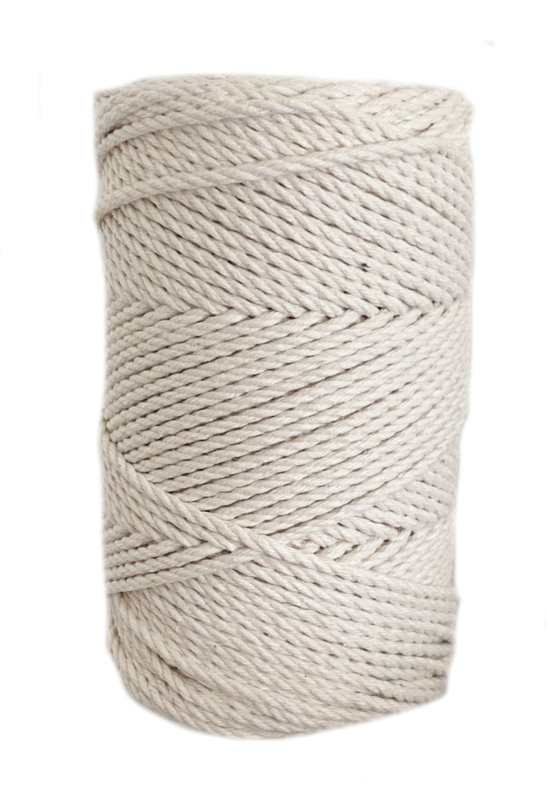 Macrame koord 3 mm 0.5 kilo Naturel