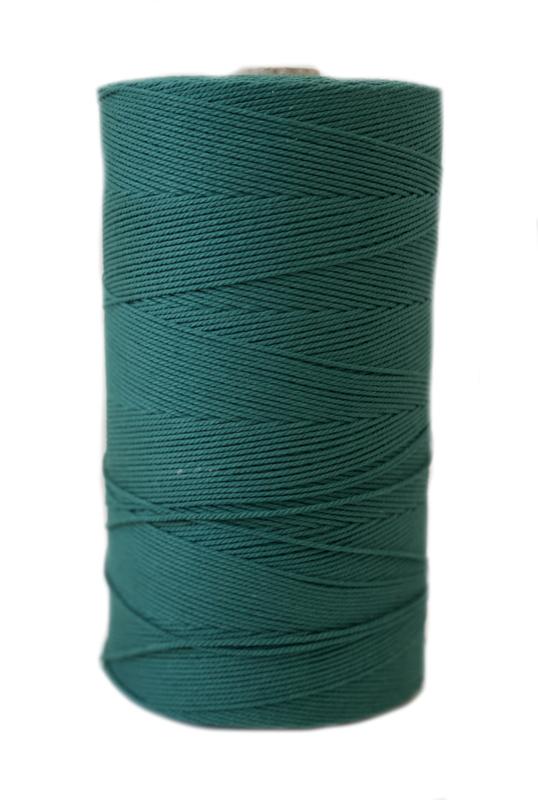 Macrame koord 1 mm groen ca 540 mtr